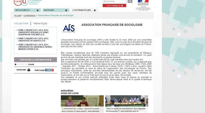 Vidéos en ligne des plénière et semi-plénières du 6e congrès à l'UVSQ