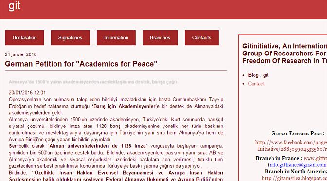 « Nous ne serons pas complices des atteintes à la liberté académique en Turquie »
